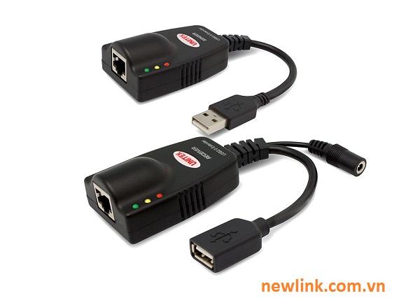 Bộ kéo dài USB 100M qua dây mạng Lan Unitek Y2507