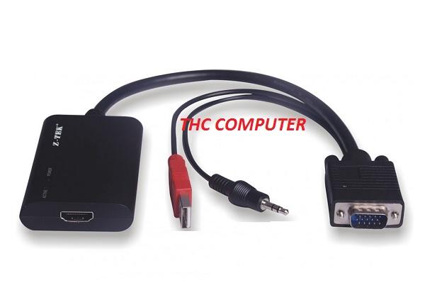 Cáp VGA to HDMI ZTEK ( ZE577C ) Cao cấp