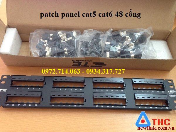 Thanh đấu nối patch Panel ,Patch Panel 48 cổng AMP UP cat5e Hàng chính hãng