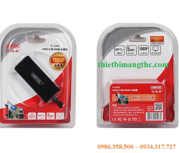 Cáp chuyển đổi USB sang HDMI unitek 3702