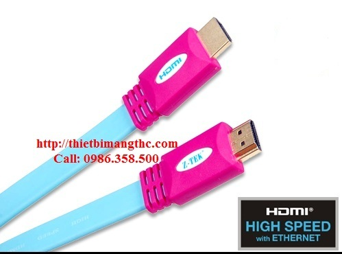 Cáp hdmi 3m z-tek Full HD 1080 mềm dẹt