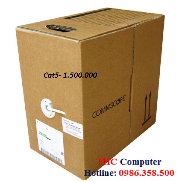 Dây cáp mạng commscope/AMP/TE cat5 UTP 4 pair, 8 đồng