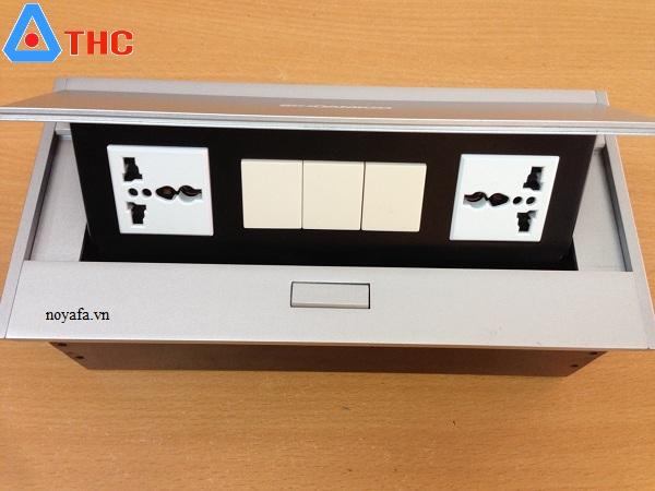 Ổ cắm âm bàn đa năng lắp 2 USB + VGA