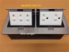 Ổ cắm điện âm sàn sino amigo ( 2 điện 3 chấu, 3 điện 2 chấu )